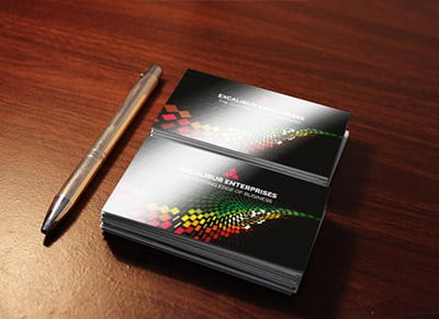 Gloss Laminated Business Cards printers in London