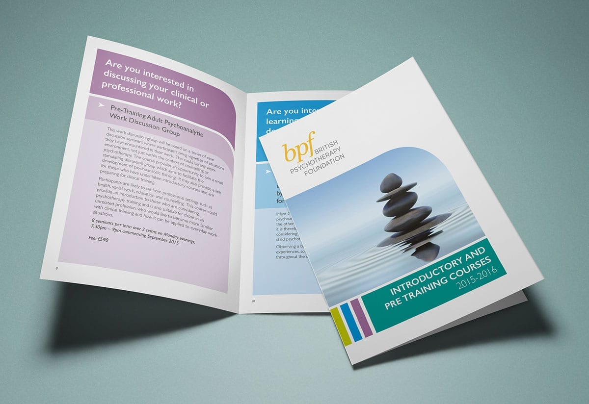 A5 booklet design and print BPF