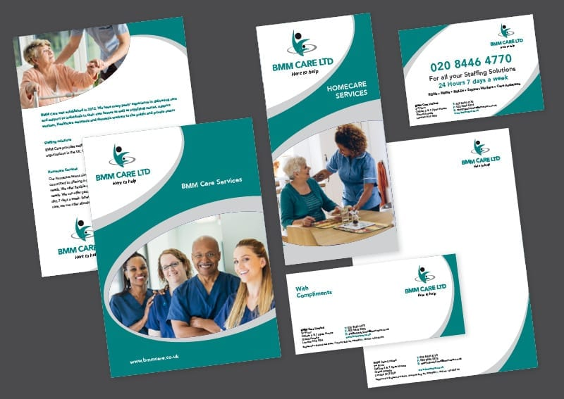 Leaflets and business stationery design and print BMM